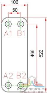 Паяный теплообменник KAORI H096 Салават теплообменник на газовых колонках